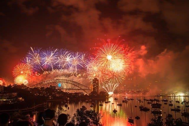 Viajar a Australia para ver los fuegos artificiales de Año Nuevo en Sydney