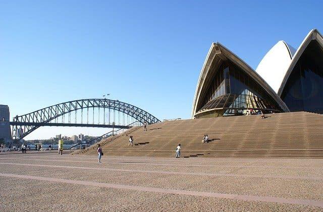Escaleras de la Casa de la Ópera en Sydney