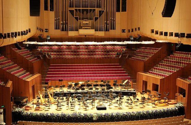 Escenario de una sala dentro de la Casa de la Ópera