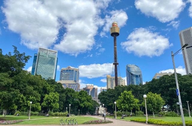 Vista del parque Hyde Park en Sydney. Uno de los lugares para vivir en Sydney con niños.